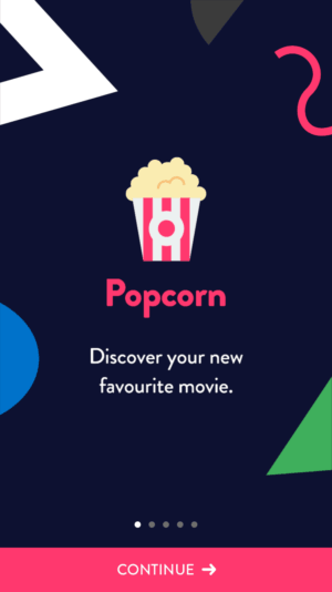 Animated Onboarding by Popcorn from UIGarage