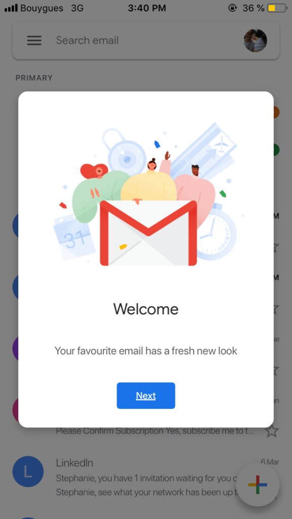 Welcome Message by Gmail from UIGarage