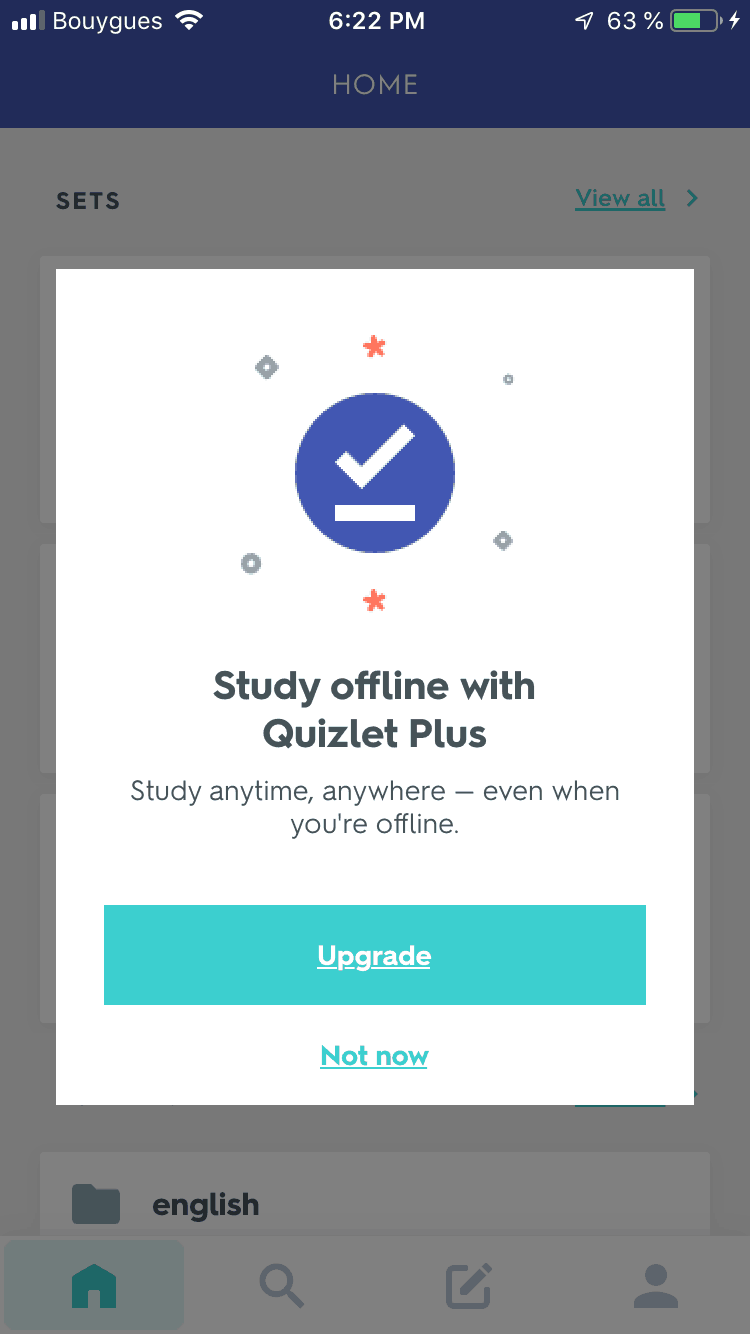 Notification by Quizlet