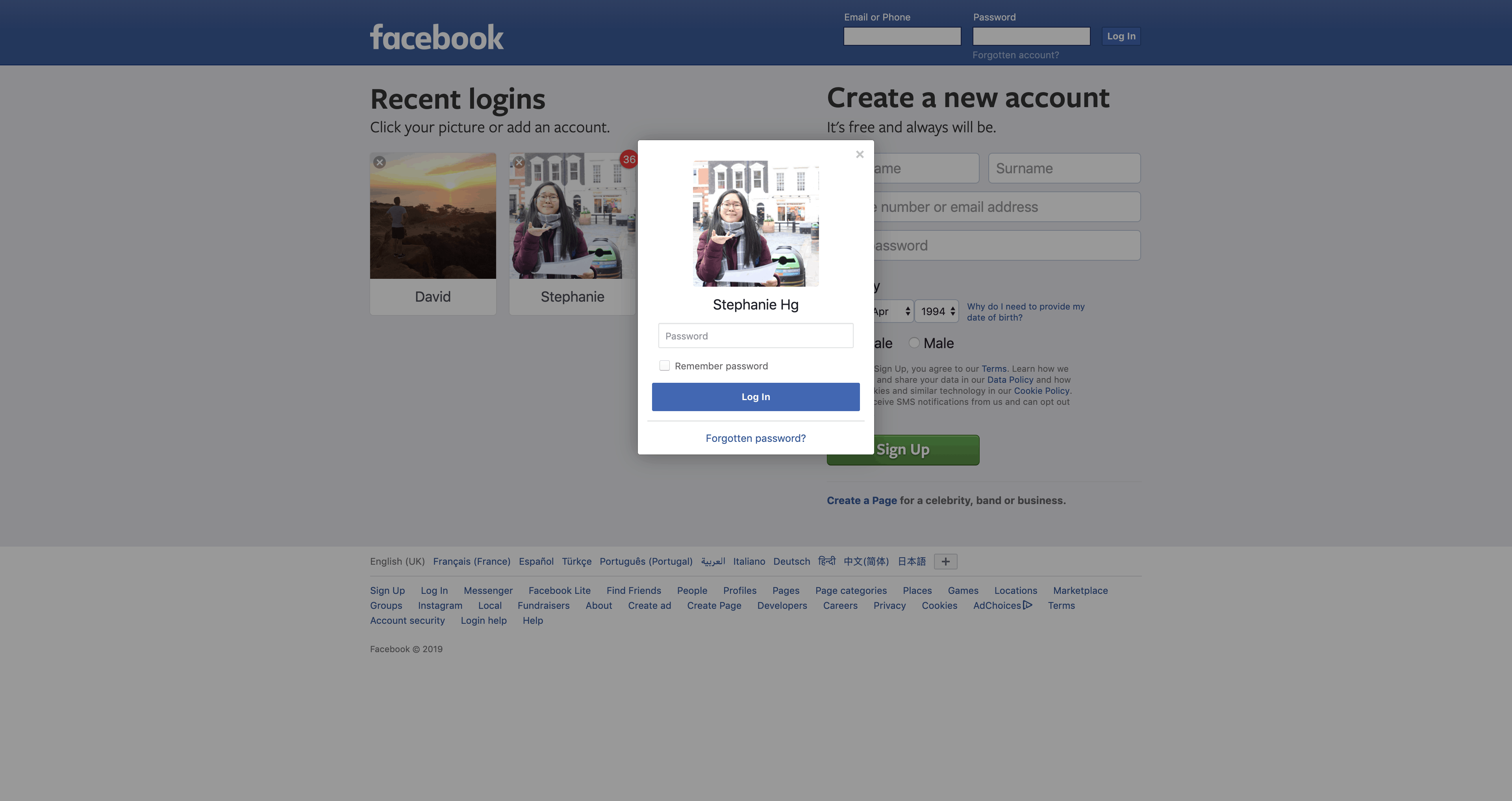 Login by Facebook