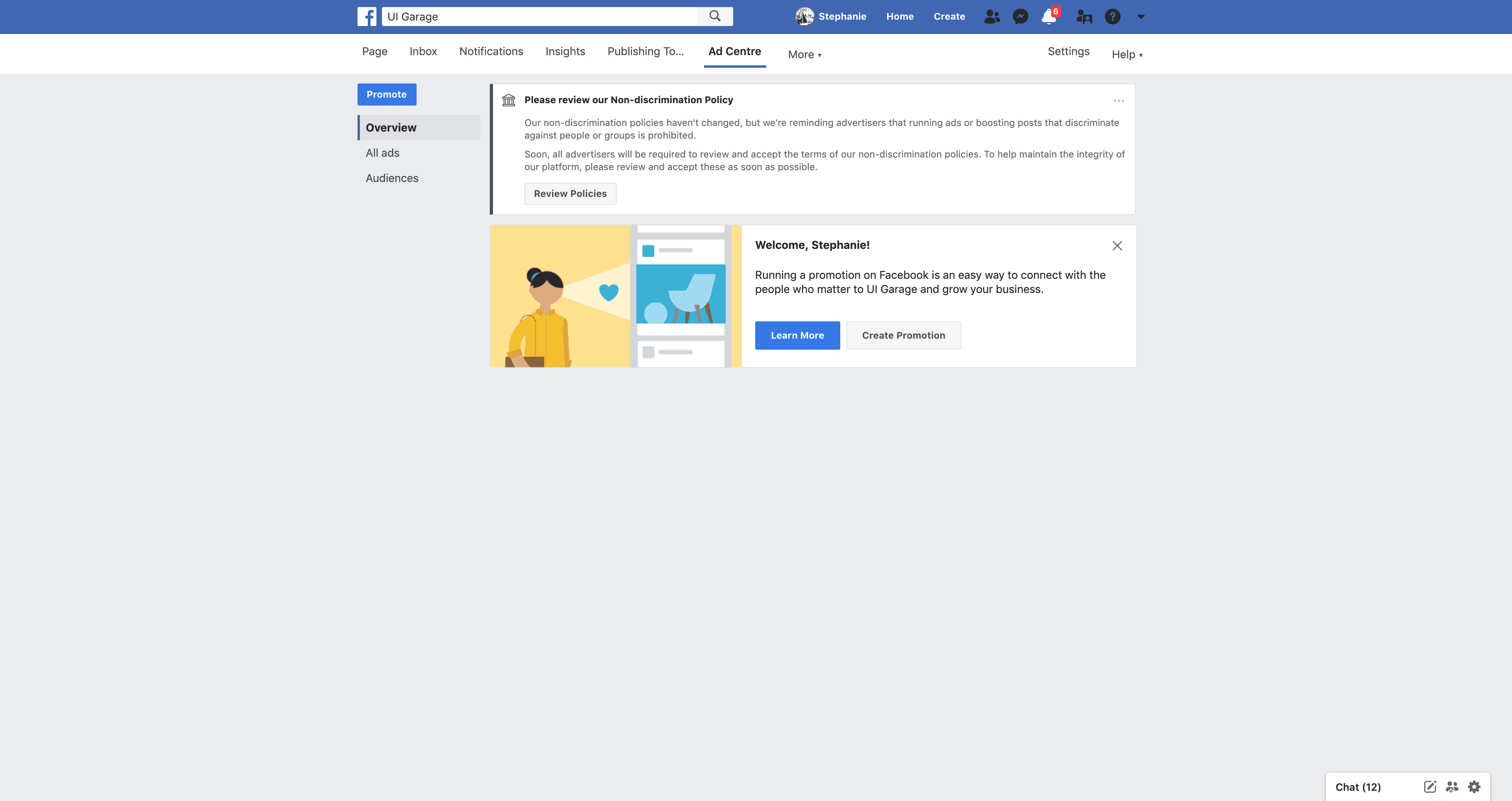 Ad Center Overview by Facebook