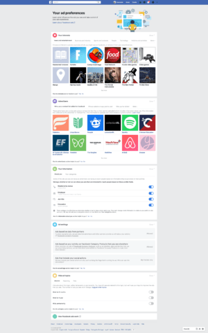 Ad Preferences by Facebook from UIGarage