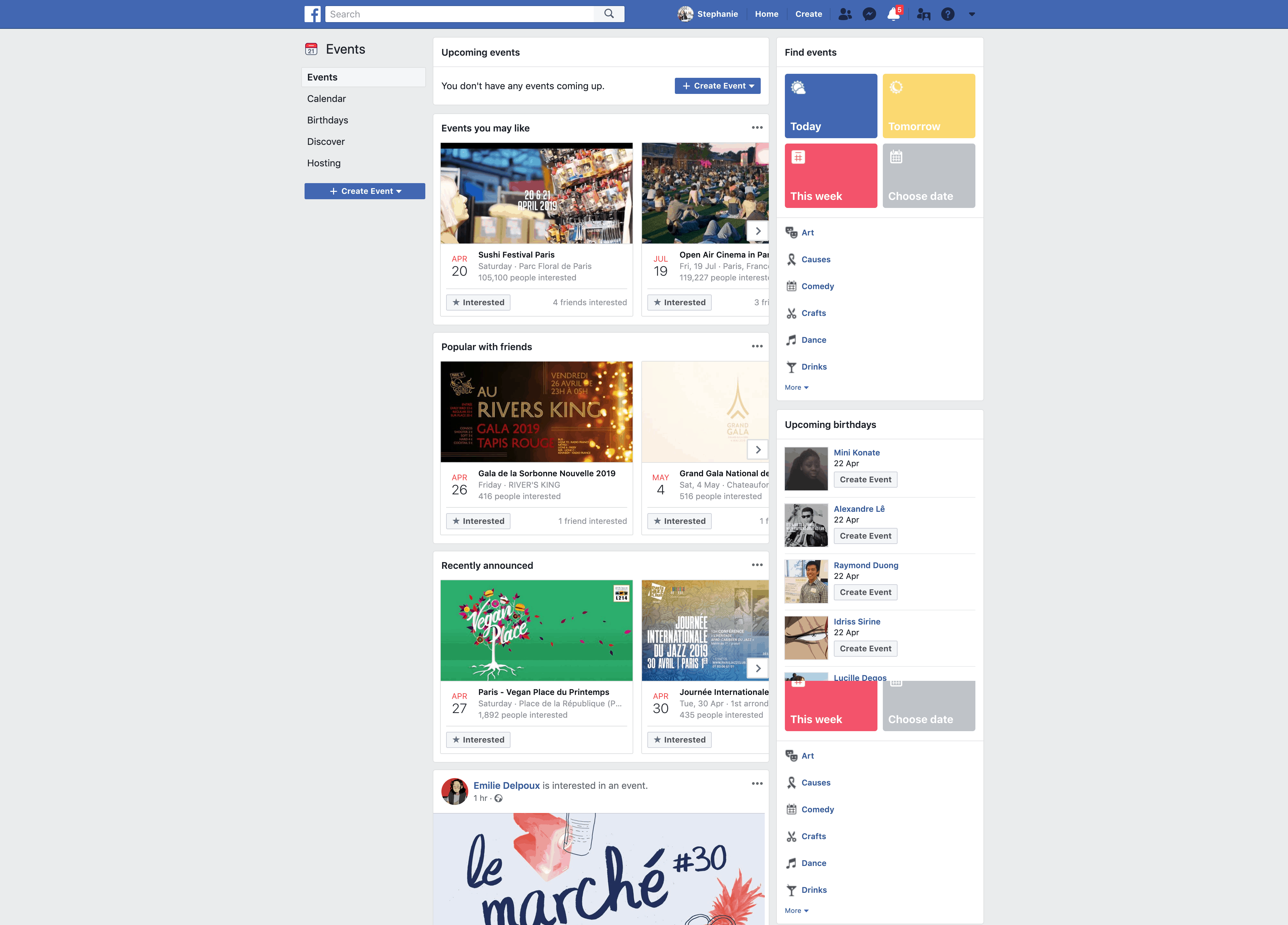 Events Page by Facebook
