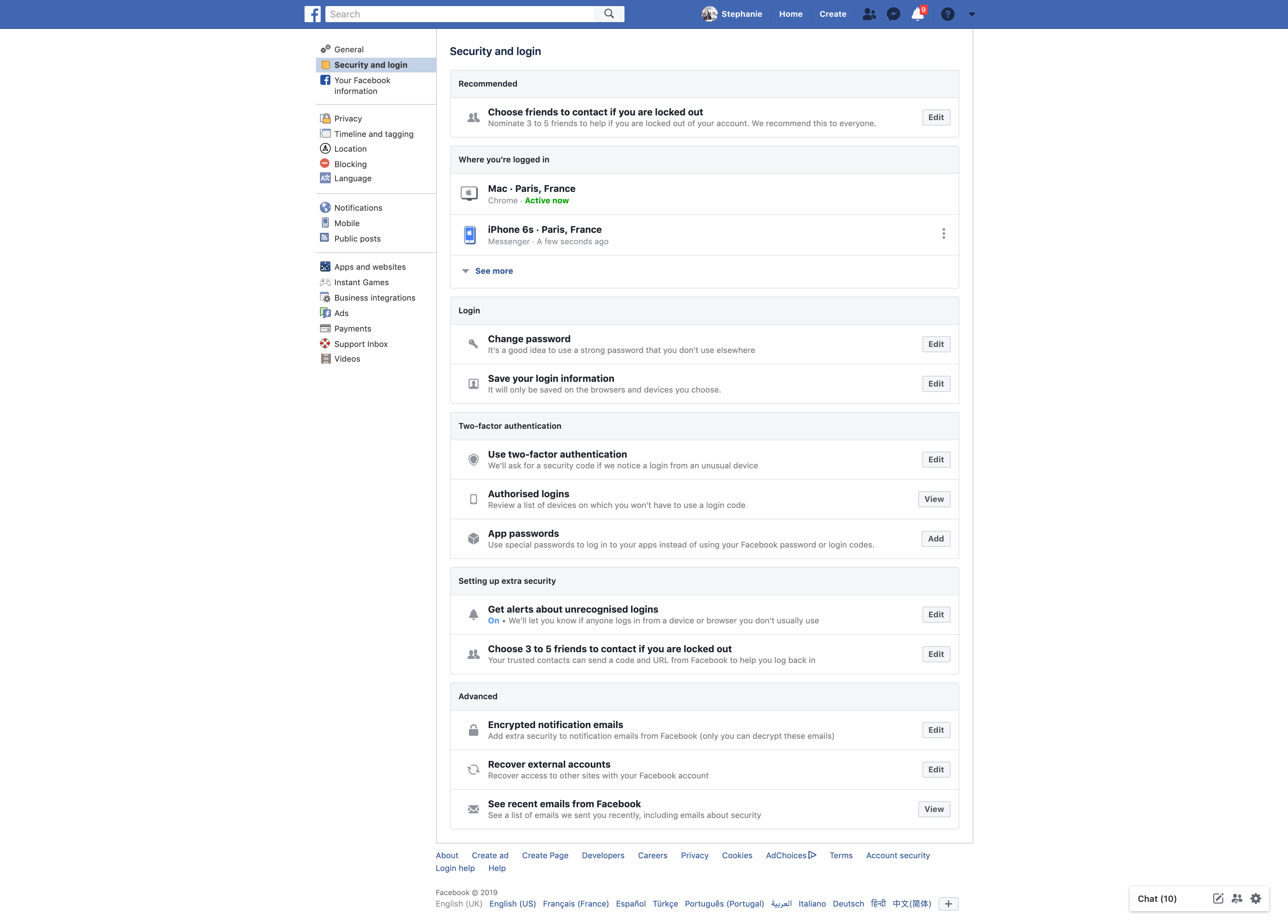 Security and Login Preferences by Facebook from UIGarage