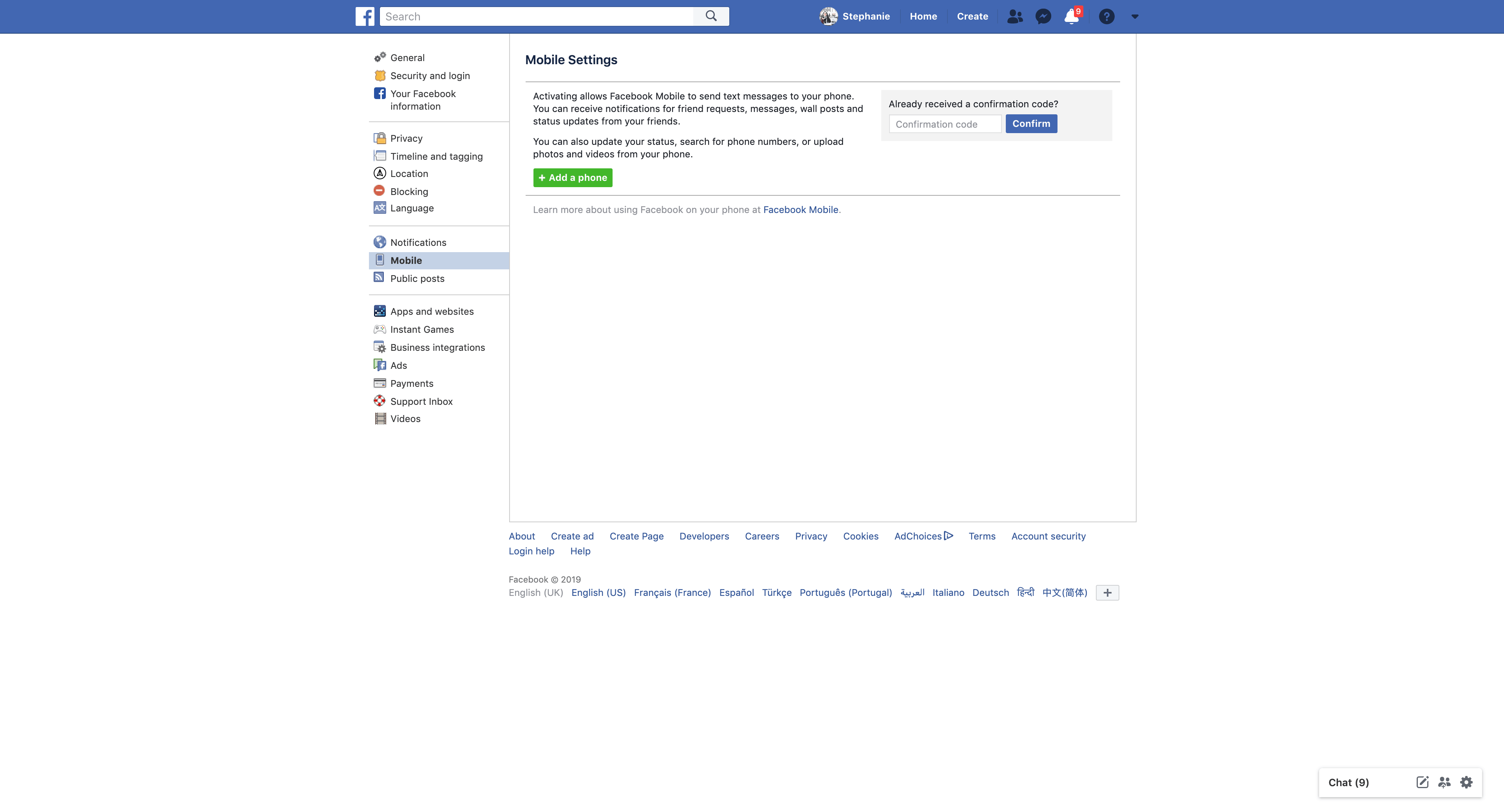 Mobile Settings by Facebook Settings  - UI Garage - The database of UI