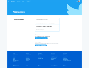 Contact by Twitter Help Center from UIGarage