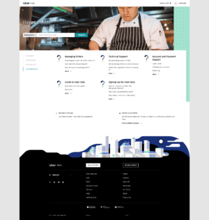 Uber Help for restaurants by Uber from UIGarage