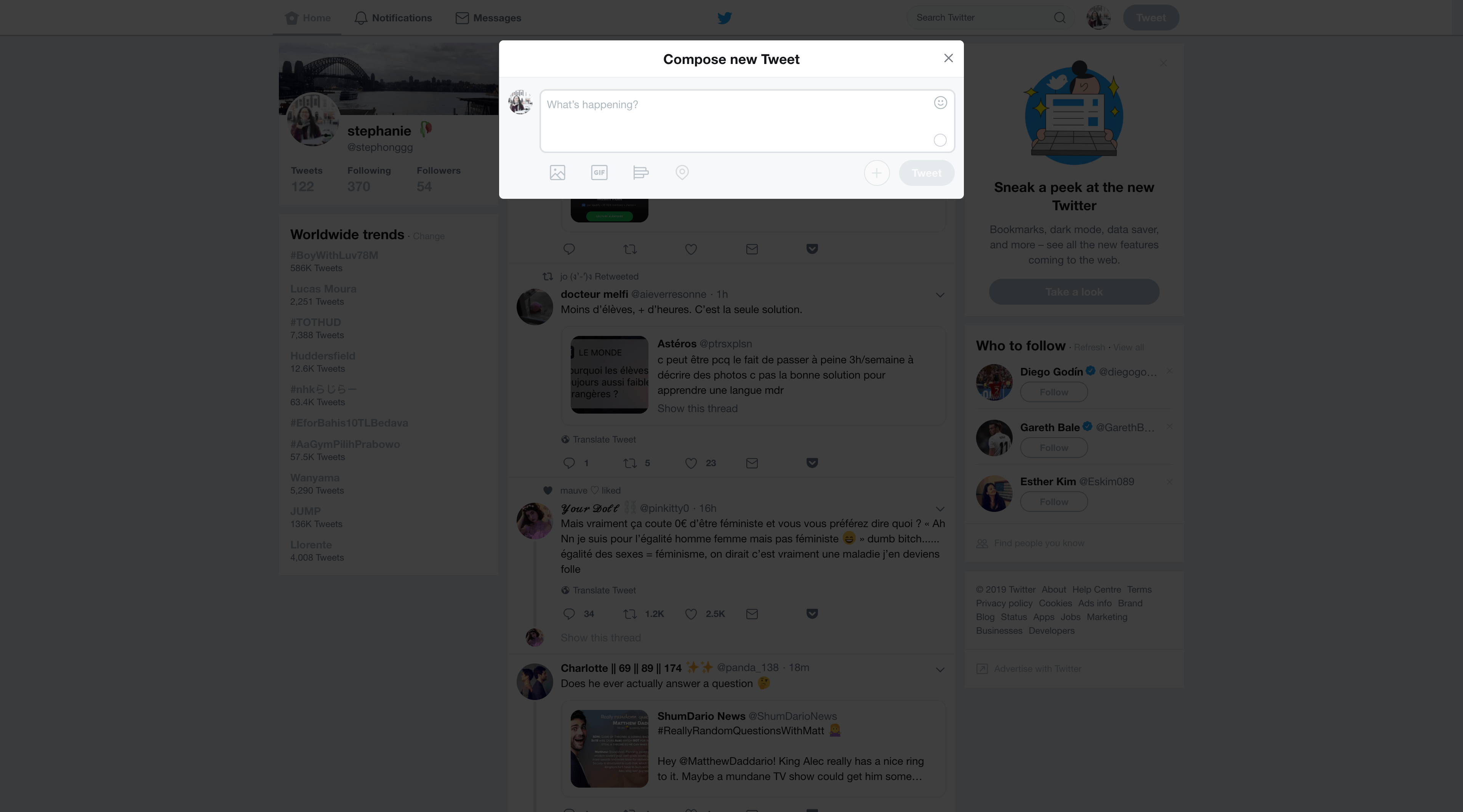 Compose a tweet by Twitter Activity Web  - UI Garage - The database of UI