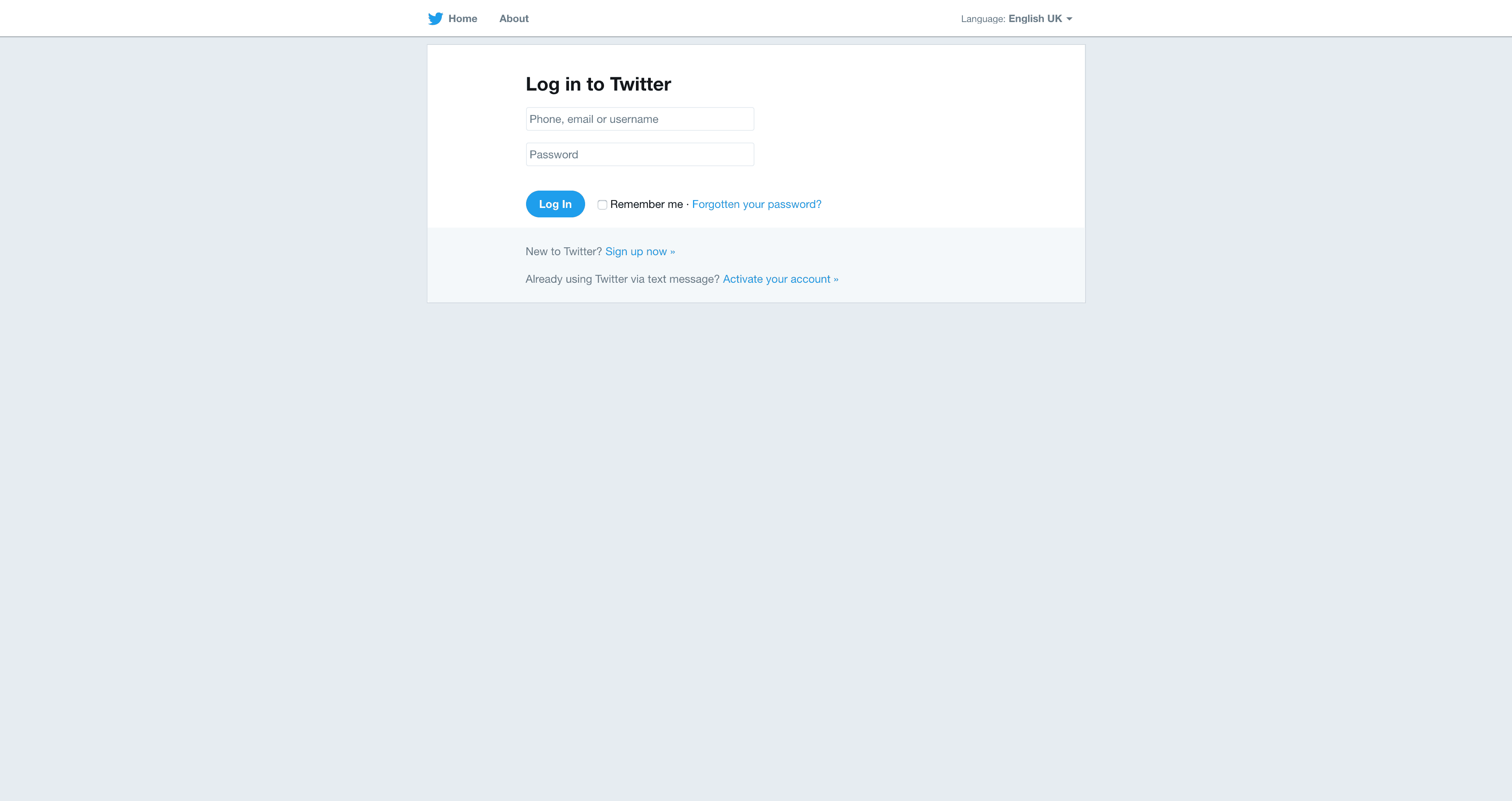 Log In by Twitter