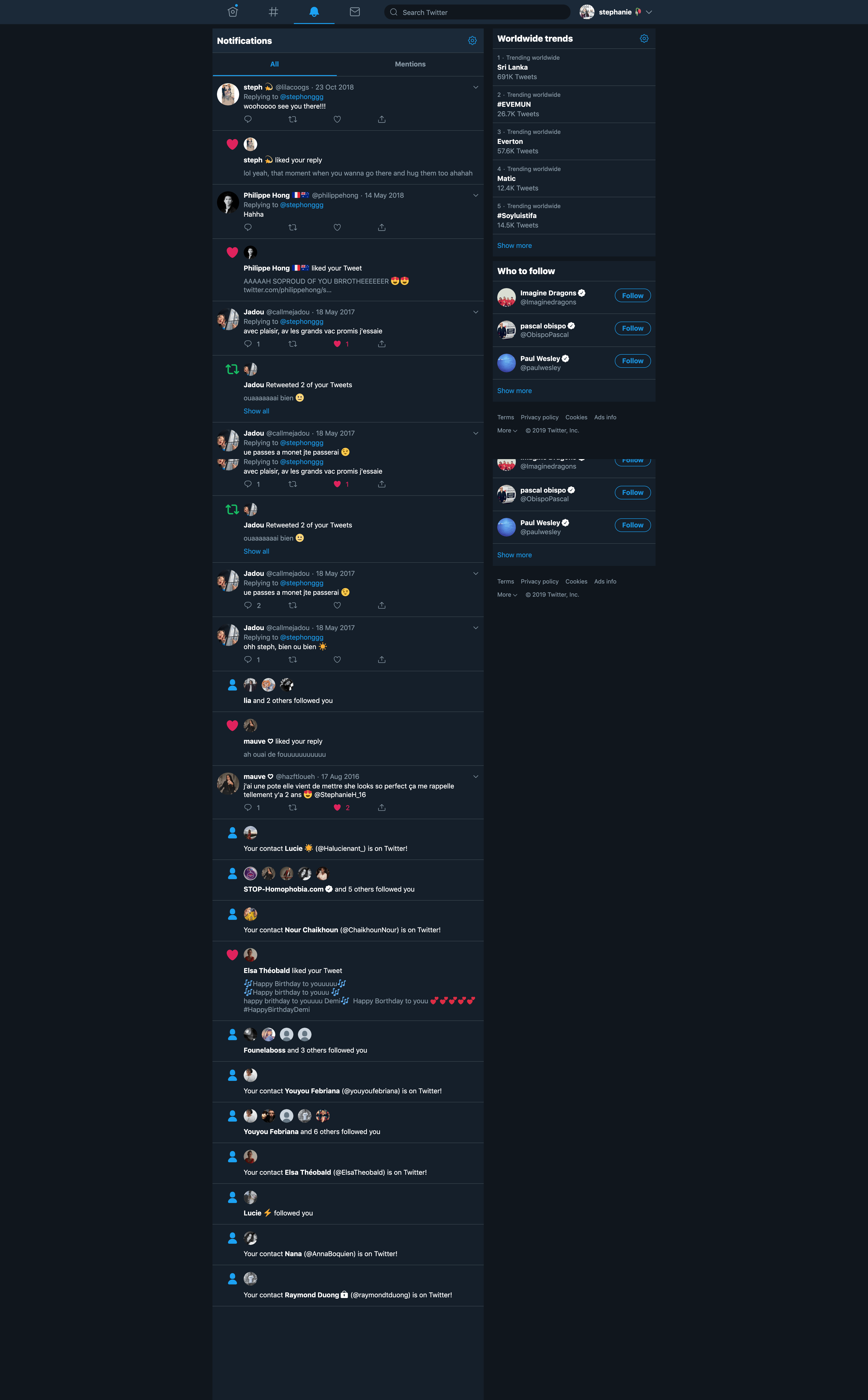 Notifications/Dark Mode by Twitter
