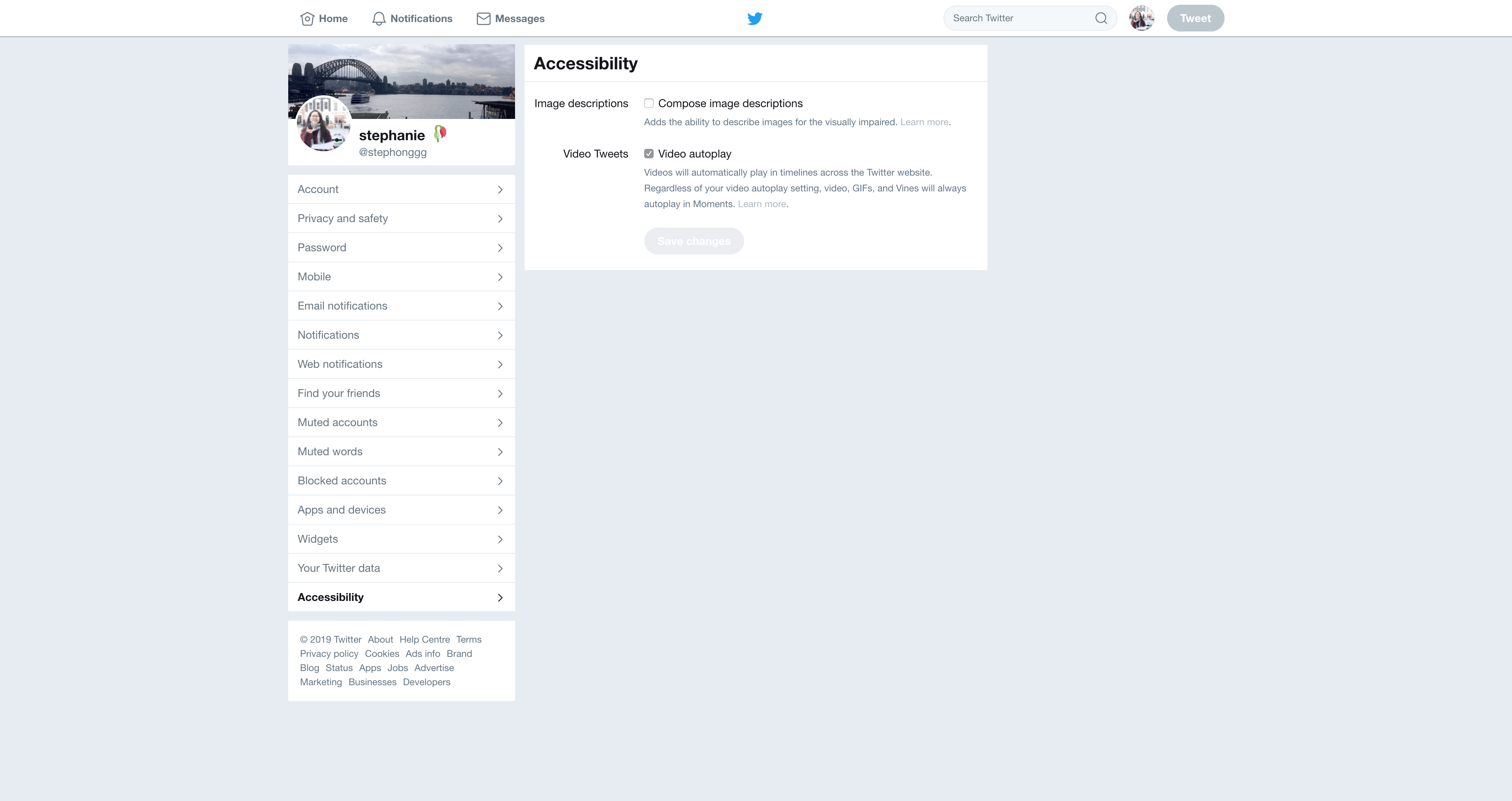 Accessibility Settings by Twitter Settings  - UI Garage - The database of UI