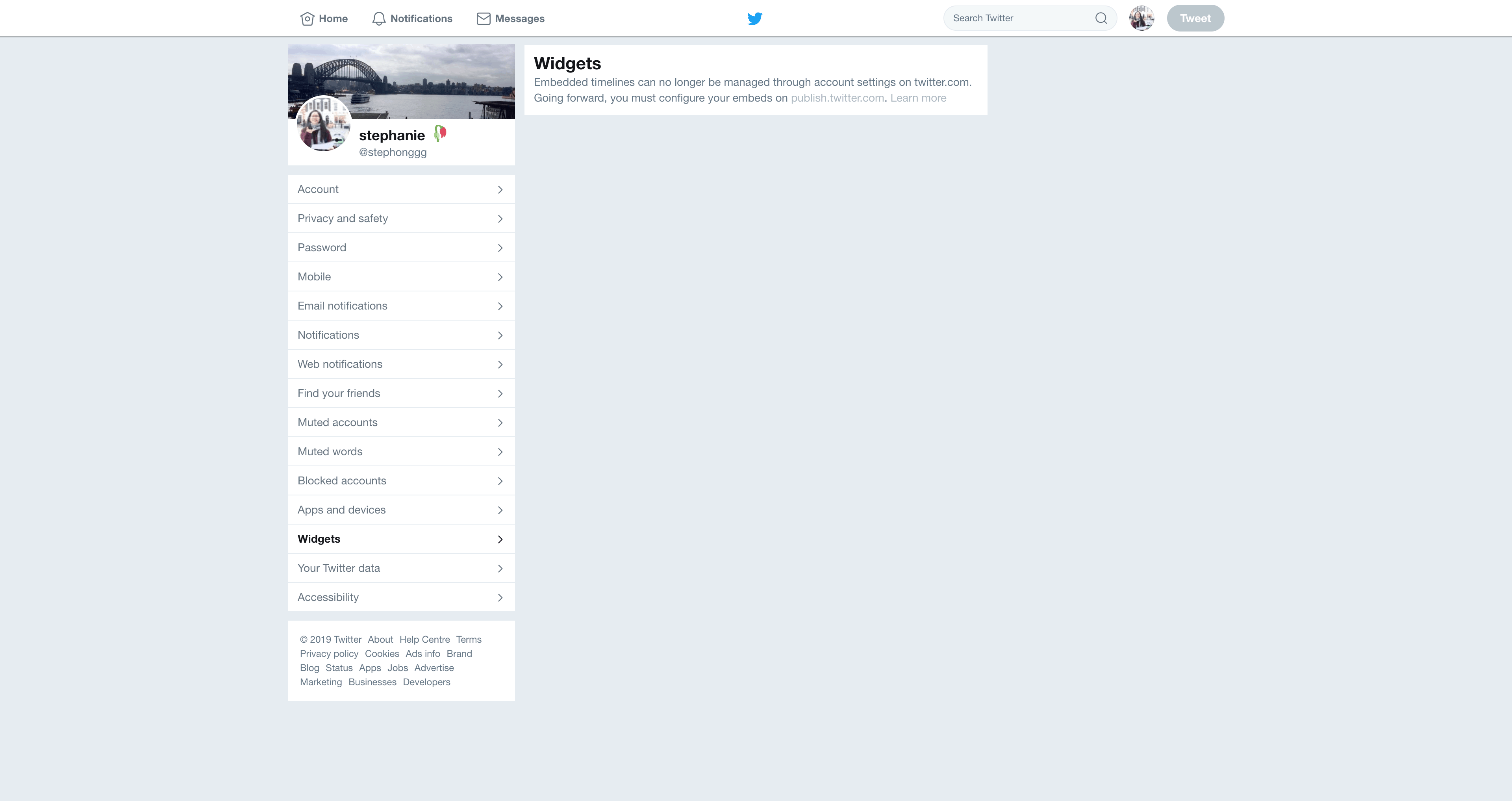 Widgets Settings by Twitter from UIGarage