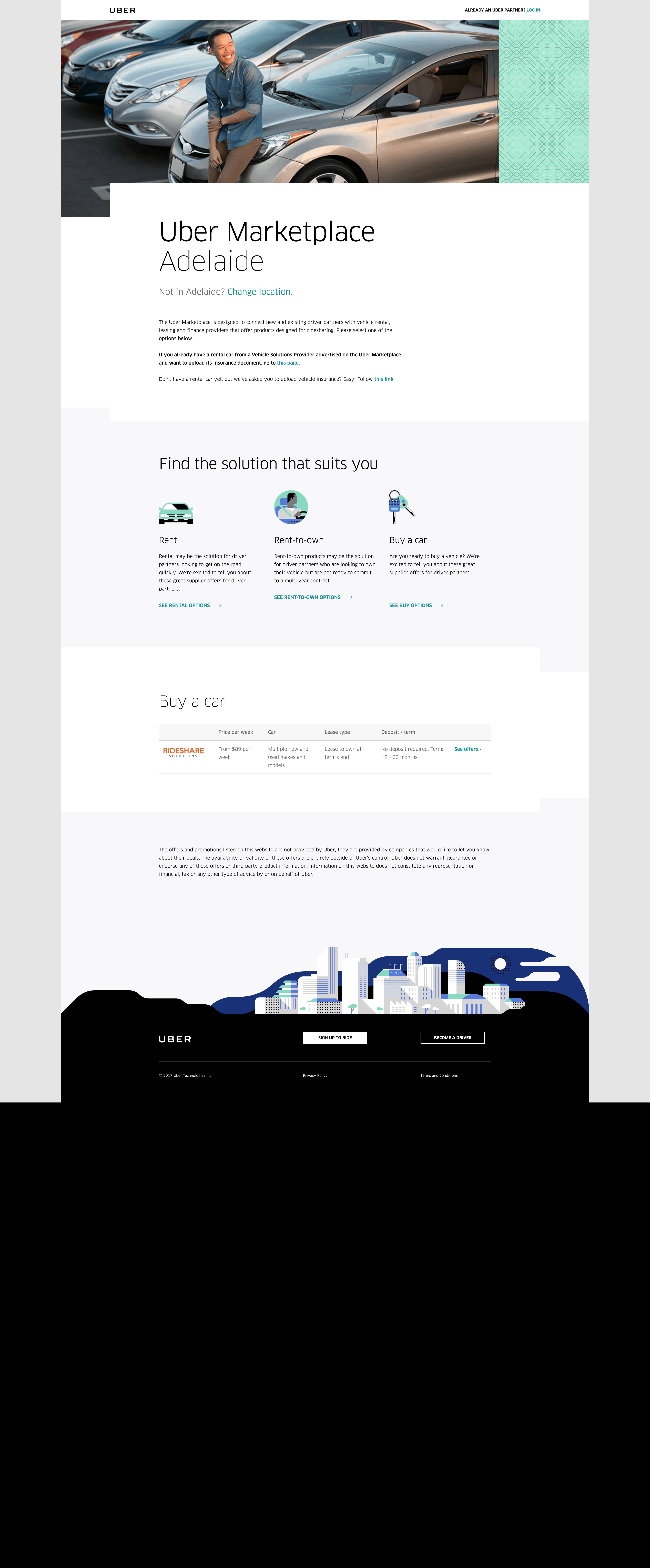 Adelaide Market Place by Uber About Us Advertising Walkthrough Web  - UI Garage - The database of UI