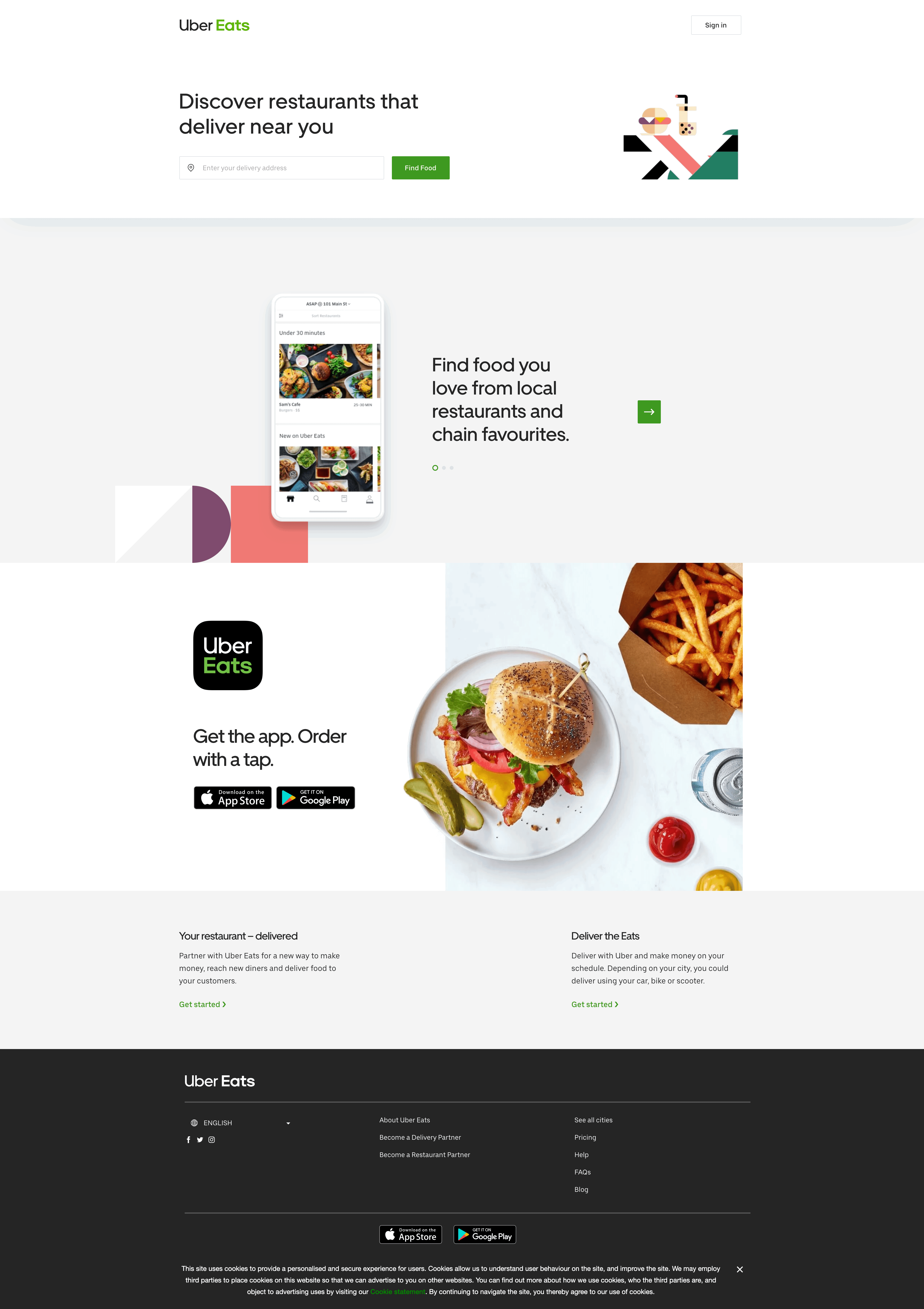 Home Page by Uber Eats Homepage  - UI Garage - The database of UI
