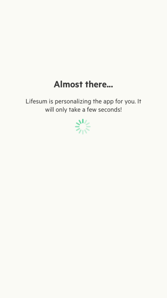 Loading by Lifesum from UIGarage