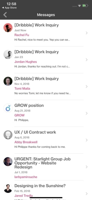 Messages in iOS by Dribbble from UIGarage