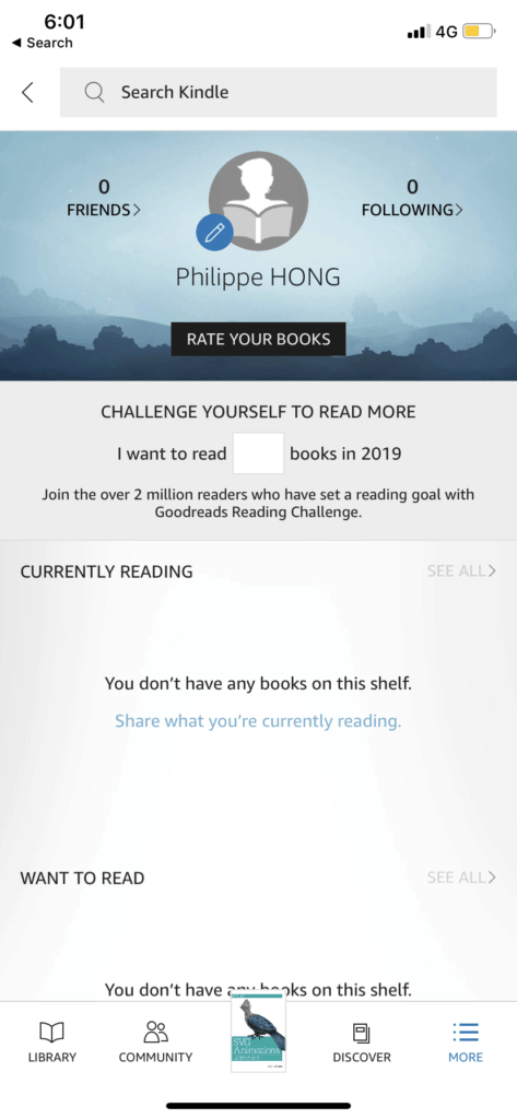 Profile on iOS by Kindle from UIGarage