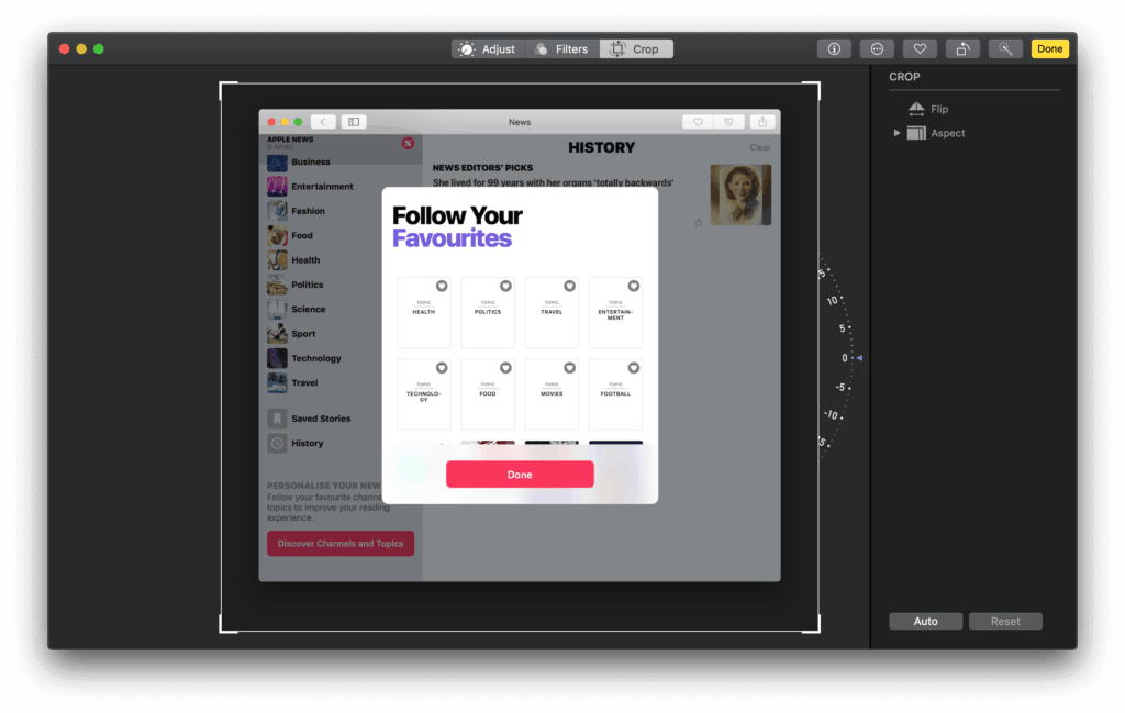 Resizing tool by Photos on Mac Mac Resize  - UI Garage - The database of UI