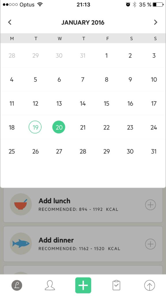 Calendar by Lifesum from UIGarage