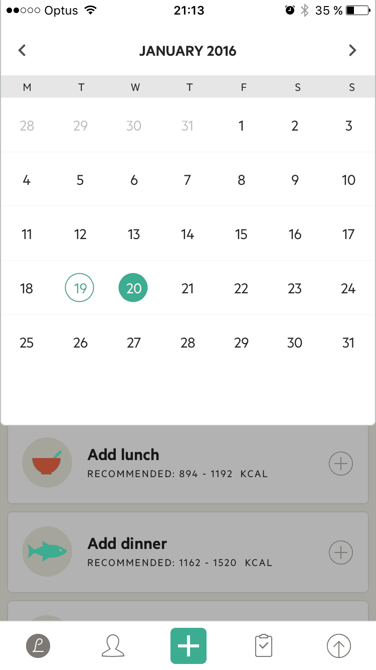 Calendar by Lifesum