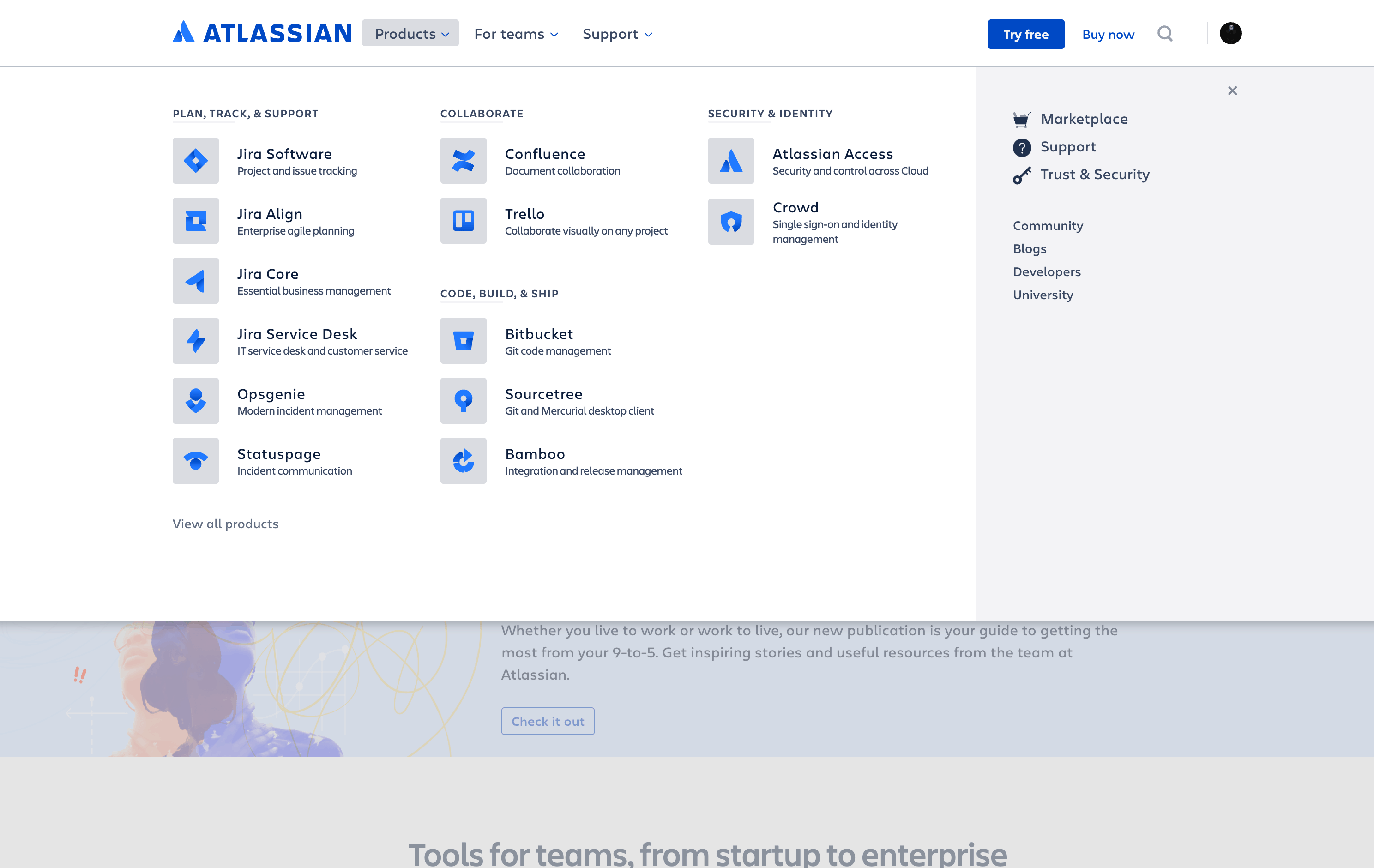 Menu by Atlassian