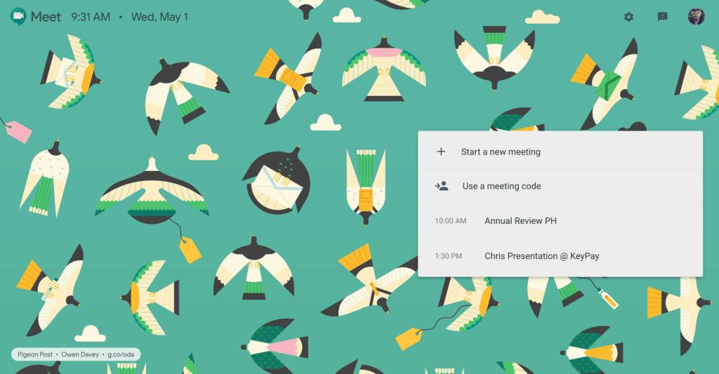 Join meeting screen by Google Meet Landing Videos Web  - UI Garage - The database of UI