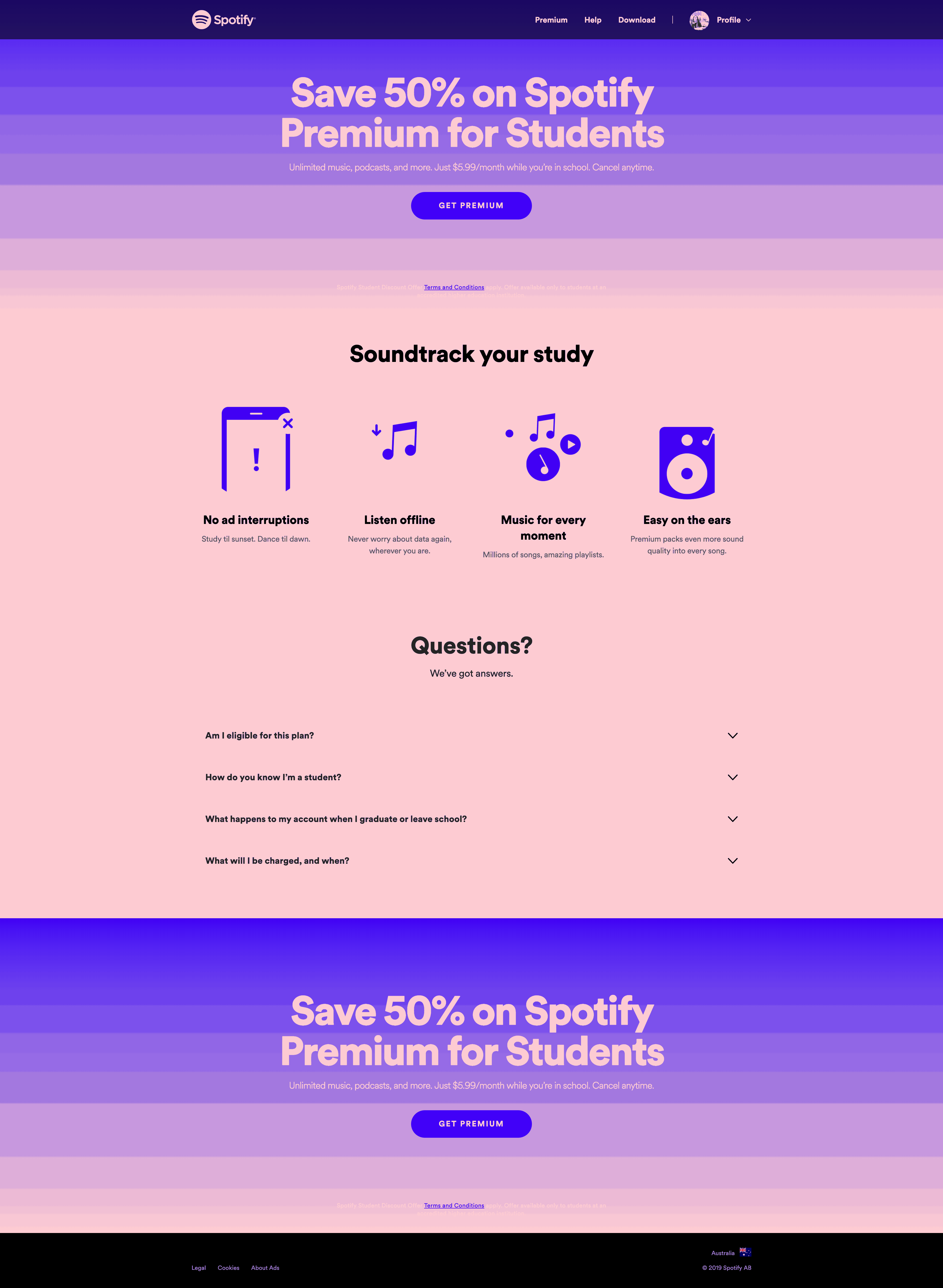 Spotify Premium for Students by Spotify