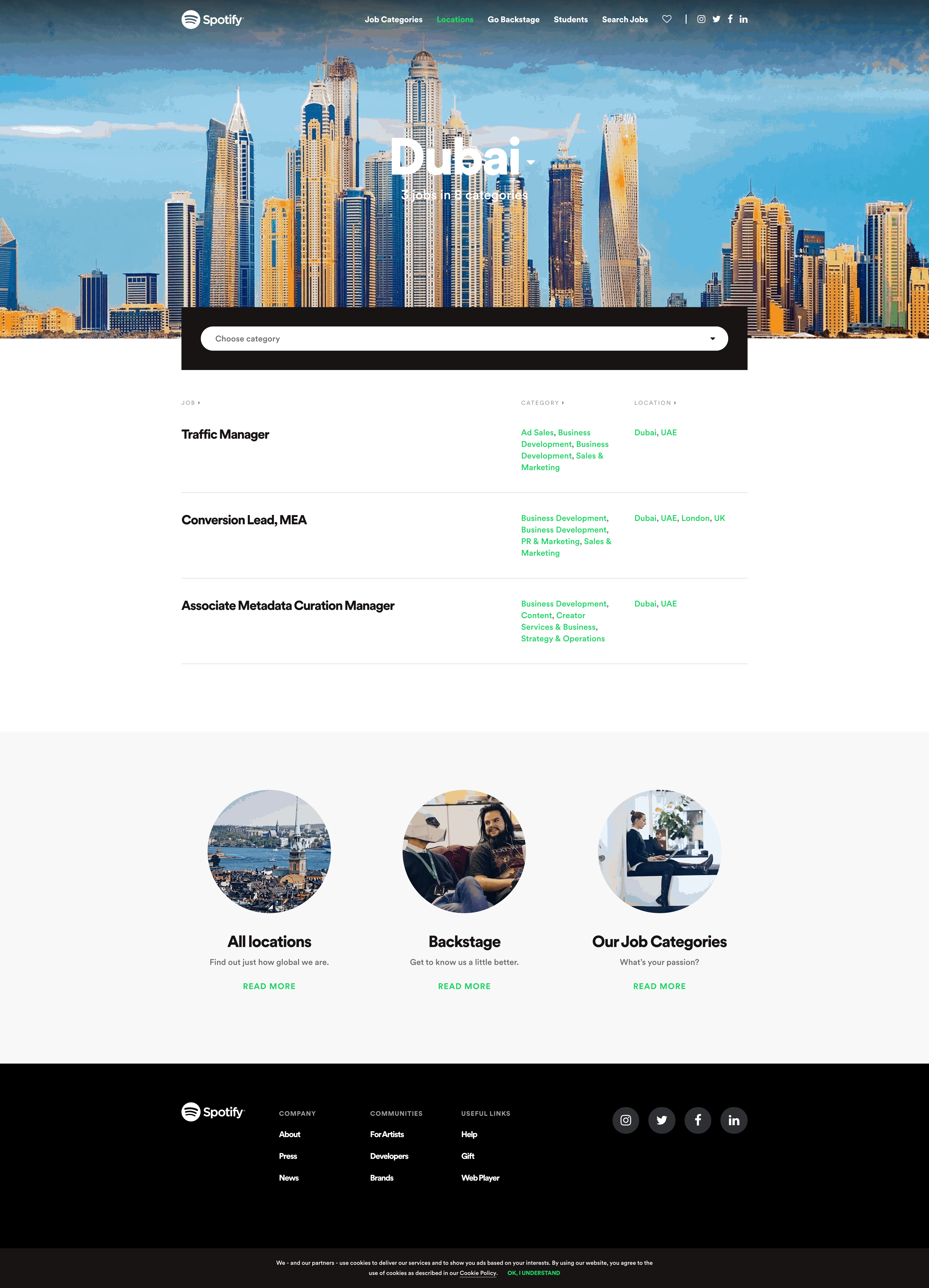 Join Us: Dubai by Spotify Join Us Web  - UI Garage - The database of UI