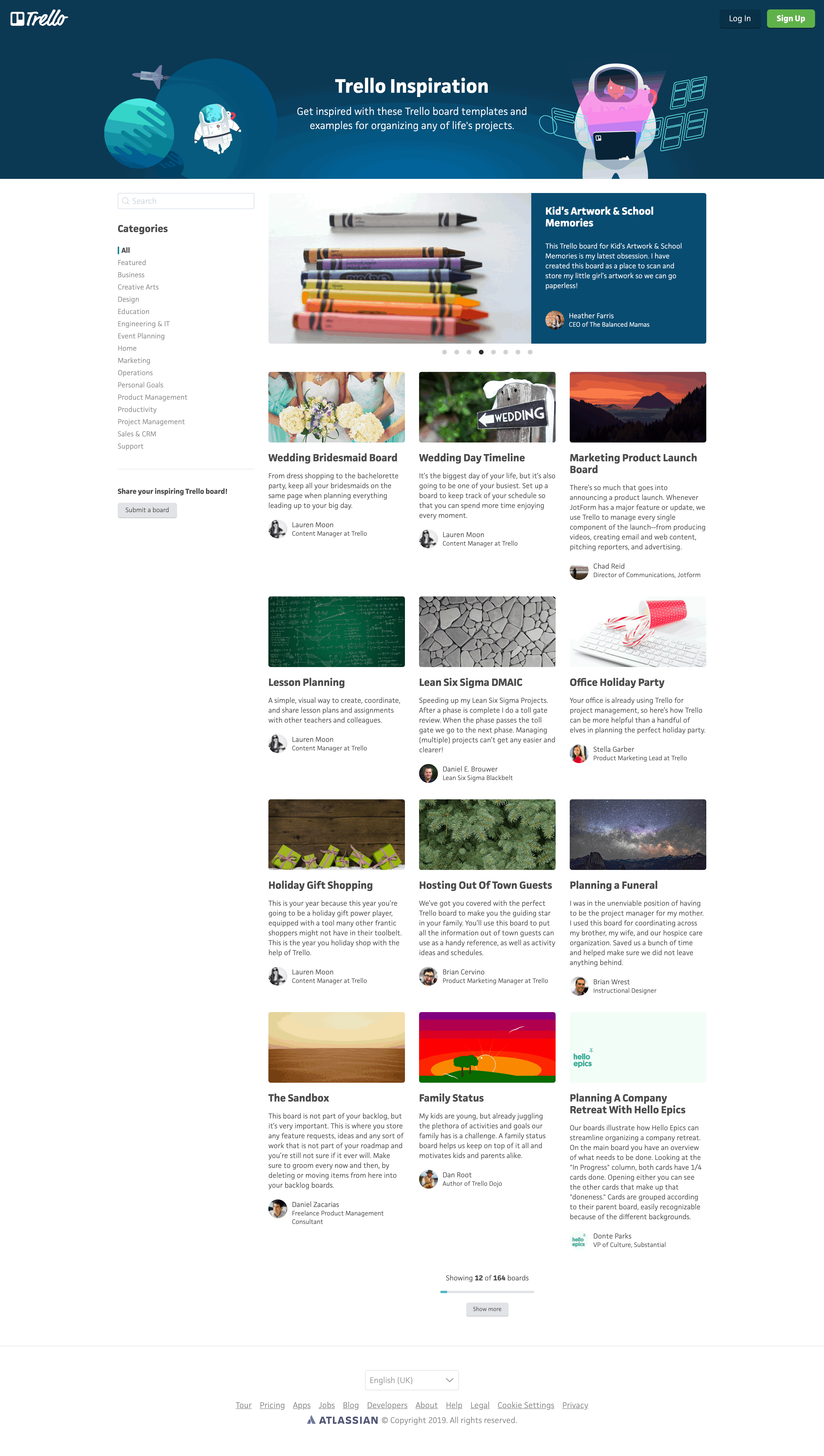 Inspiration Page by Trello
