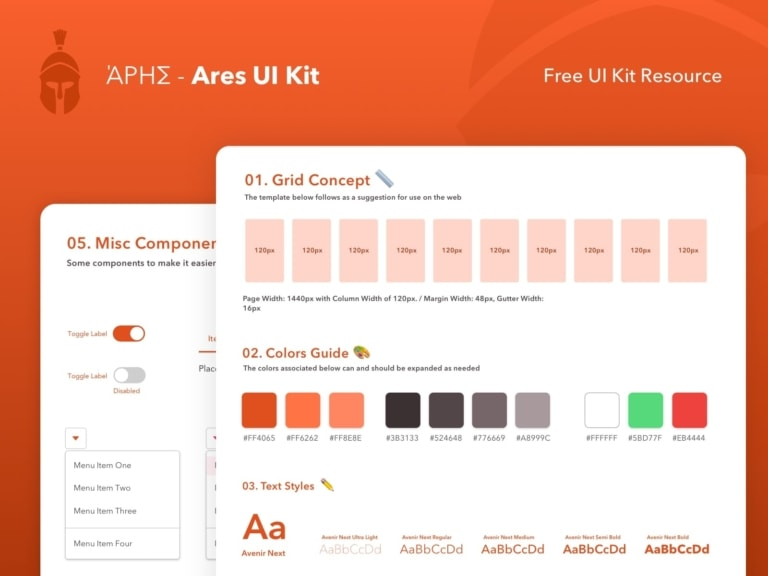 Ares UI Kit from UIGarage