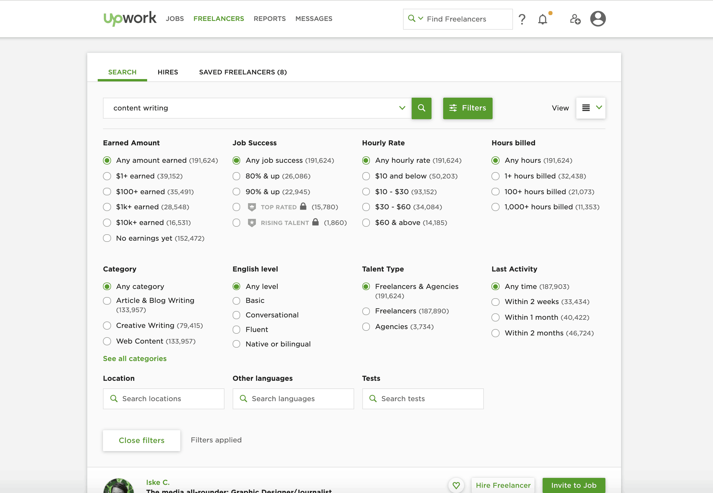 Search by Upwork