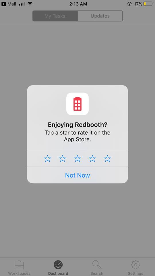 Alert on iOS by Redbooth
