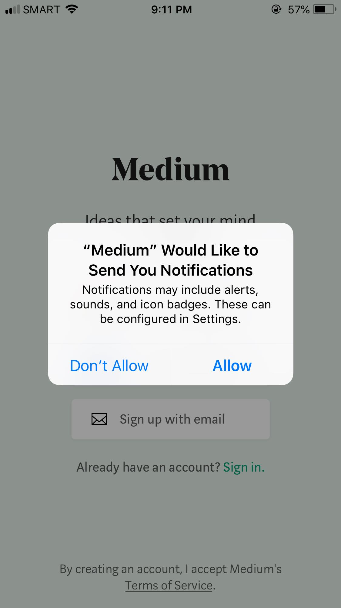 Ask Permission on iOS by Medium