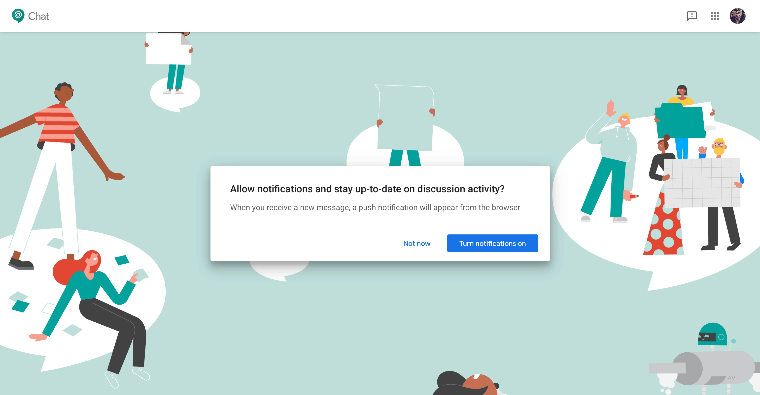 Ask Permission by Google Chat