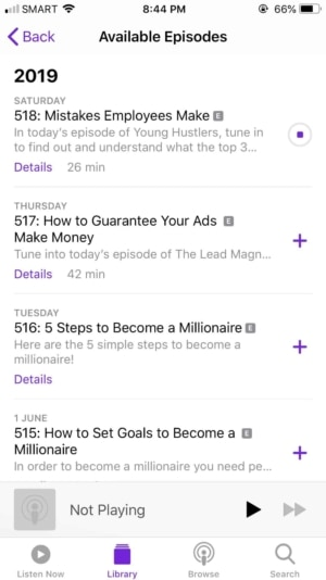 Available Episodes on iOS by Apple Podcast from UIGarage