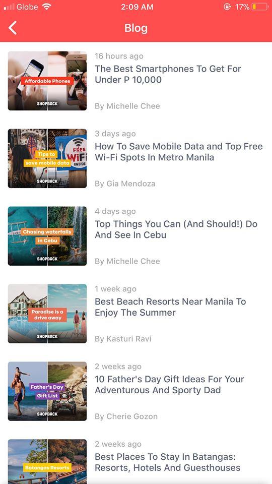 Blog on iOS by Shopback
