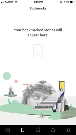 Bookmarks on iOS by Medium from UIGarage