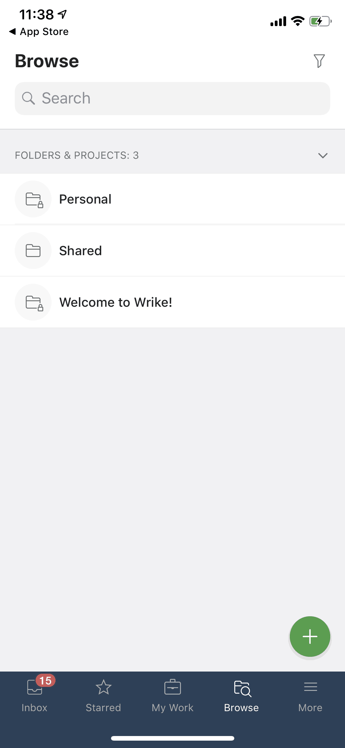 Browse on iOS by Wrike
