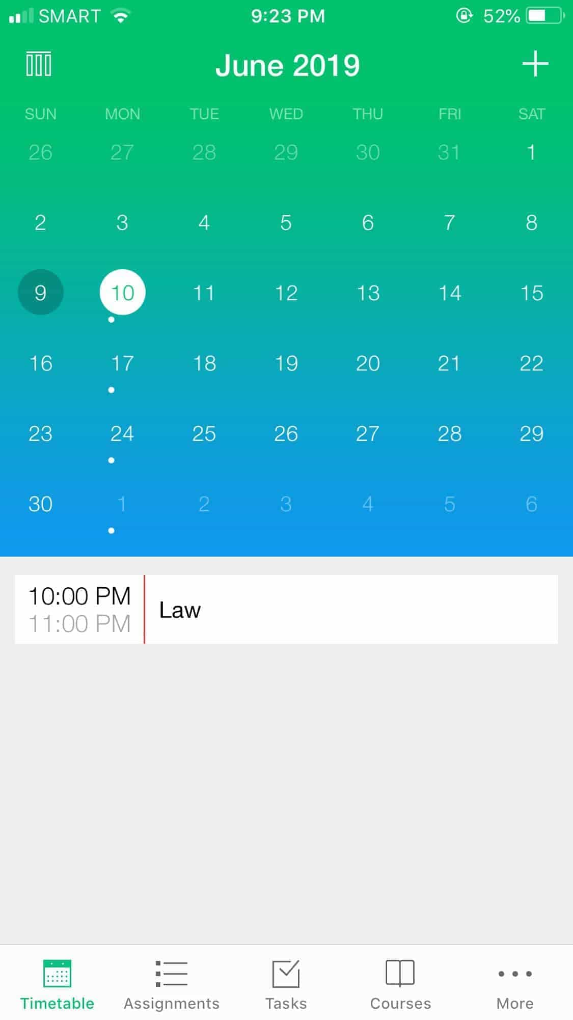 Calendar on iOS by Pocket Schedule