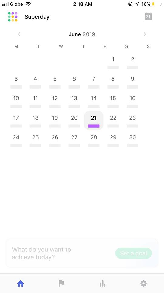 Calendar on iOS by  Superday