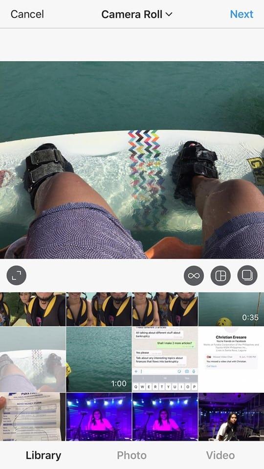 Camera Roll on iOS by Instagram 2019