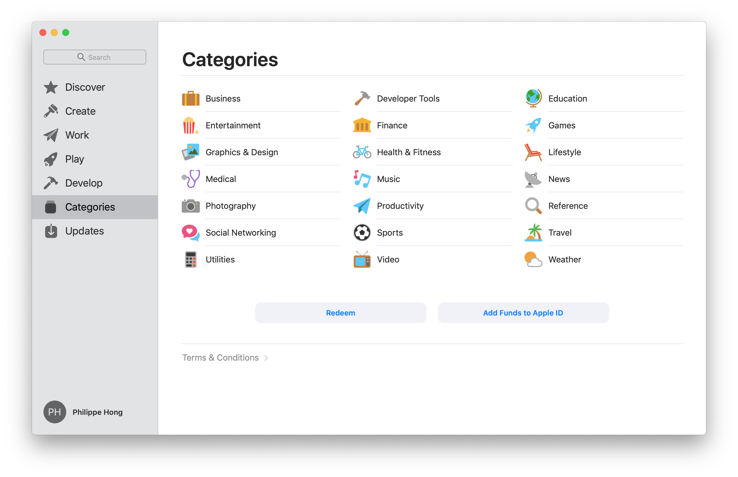 Categories by Mac App Store