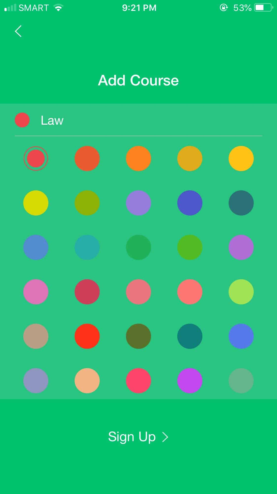 Color Picker on iOS by Pocket Schedule