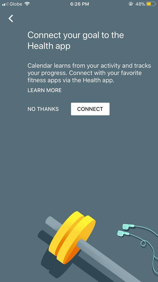 Connect on iOS by Google Calendar