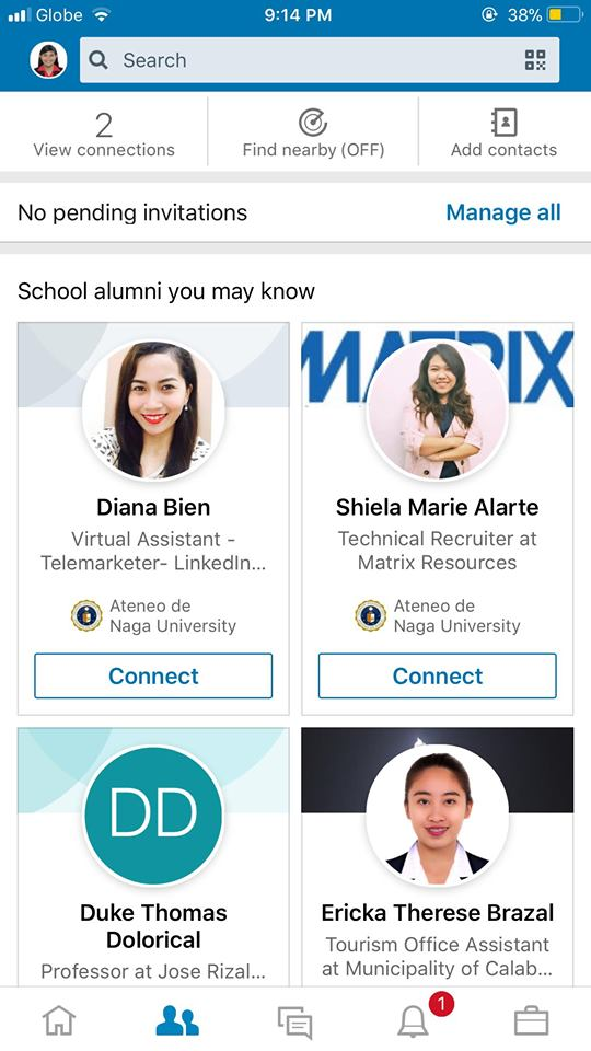 Connections on iOS by LinkedIn