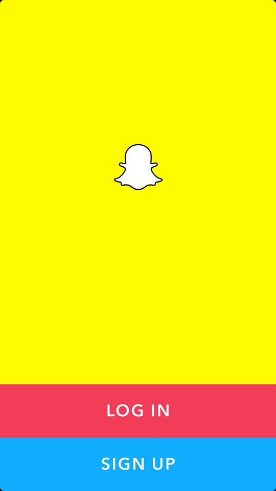 Launch Screen Screen on iOS by Snapchat 2019