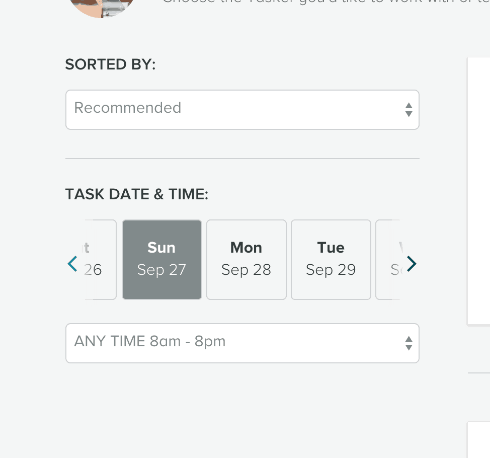 Date Picker by Task Rabbit