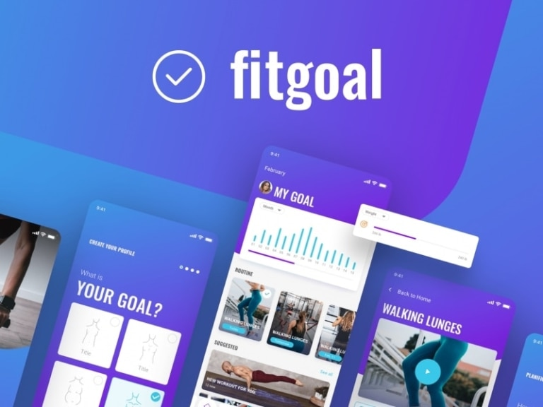 Fitgoal UI Kit from UIGarage