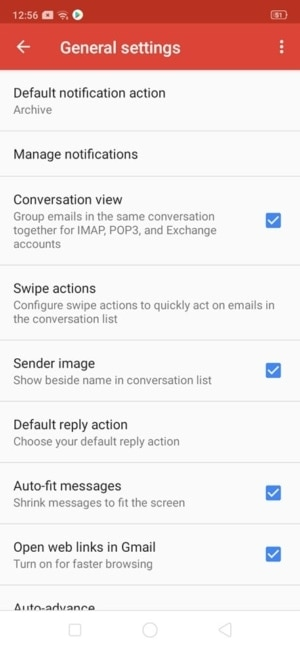 General Settings on Android by Gmail from UIGarage