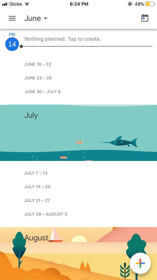 Home on iOS by Google Calendar